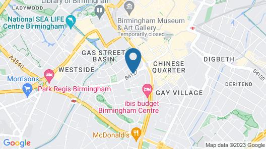 pentahotel Birmingham Map