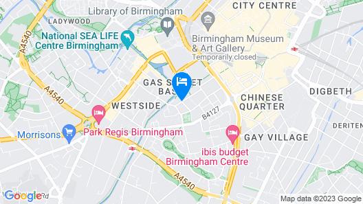Hotel Indigo Birmingham Map