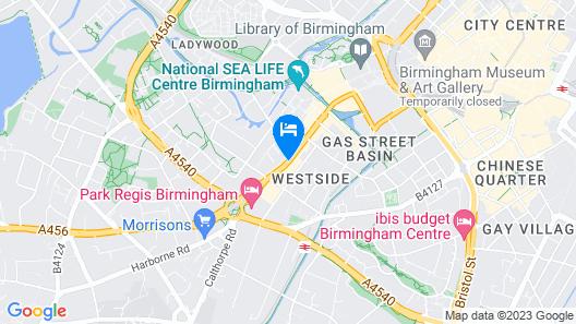 Hampton by Hilton Birmingham Broad Street Map
