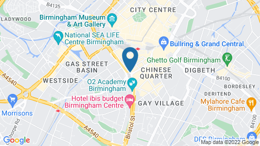 Radisson Blu Hotel, Birmingham Map