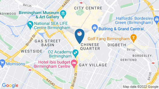 Holiday Inn Birmingham City Centre Map