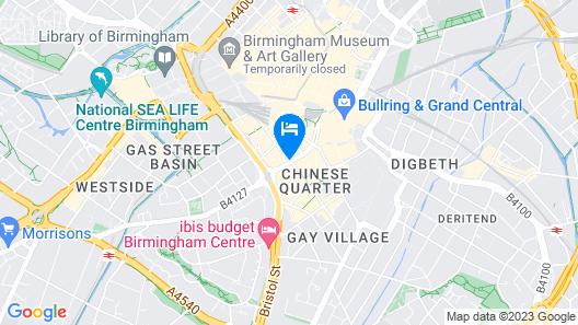 Holiday Inn Birmingham City Centre Map