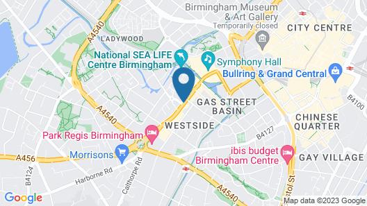 Novotel Birmingham Centre Map