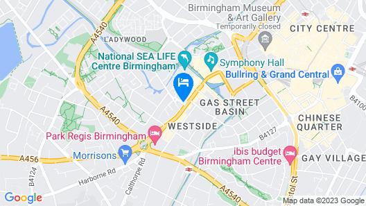 Hilton Garden Inn Birmingham Brindley Place Map