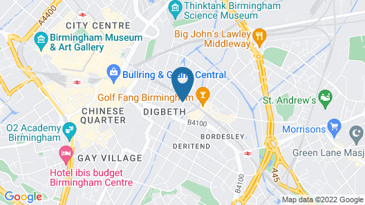 Birmingham Central Backpackers - Hostel Map