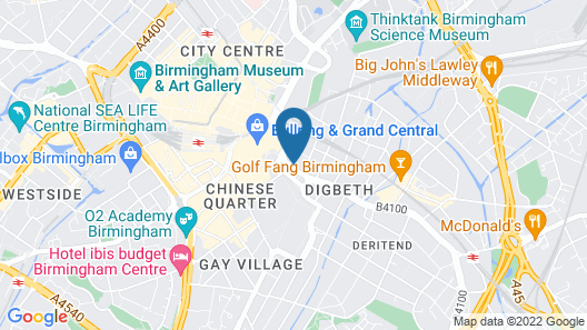 Aparthotel Adagio Birmingham City Centre Map