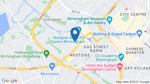 SACO Birmingham - Brindleyplace Map