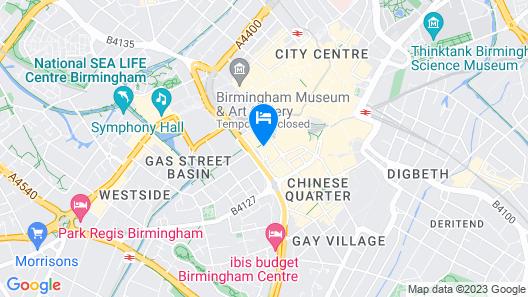 easyHotel Birmingham Map