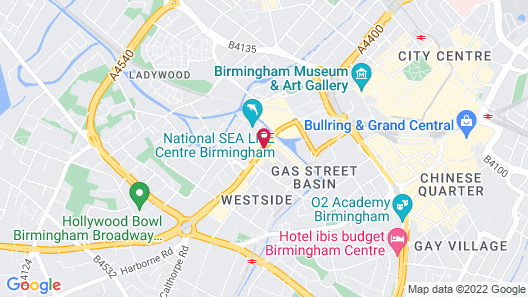 Jurys Inn Birmingham Map