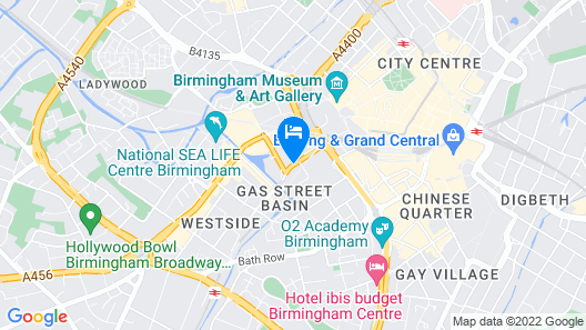 Holiday Inn Express Birmingham - City Centre Map