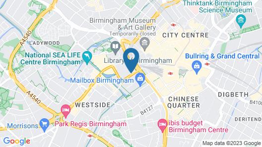 Crowne Plaza Birmingham City Centre Map