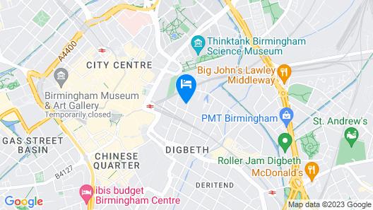 Birmingham Central Station Apartment Map