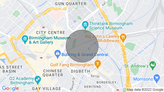 Birmingham Central Station Apartment (Flat 1) Map