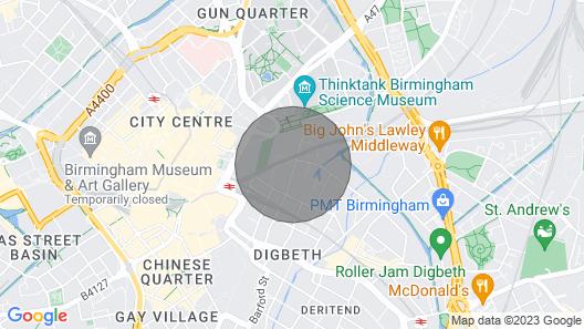 Birmingham Central Station Apartment (Studio 3) Map