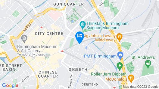 Birmingham Central Station Apartment (Flat 5) Map