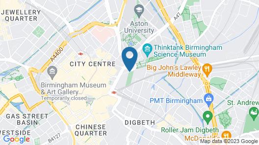 Clayton Hotel Birmingham Map