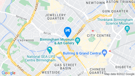 ibis Styles Birmingham Centre Map