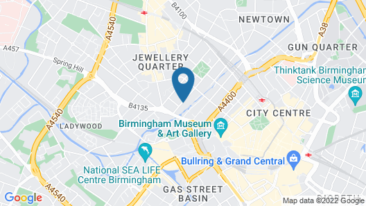 Staycity Aparthotels Birmingham Central Newhall Square Map