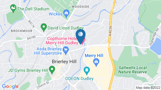 Copthorne Hotel Merry Hill Dudley Map