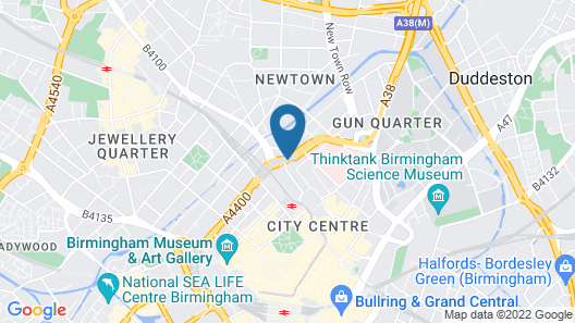 Holiday Inn Express Birmingham - Snow Hill Map