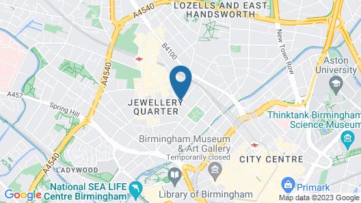Bloc Hotel Birmingham Map