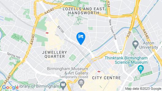 Hampton by Hilton Birmingham Jewellery Quarter Map