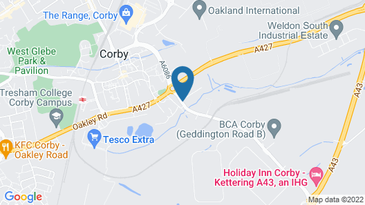 Holiday Inn Corby - Kettering A43 Map