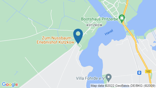 Hausboot Kützkow am Havelsee Map