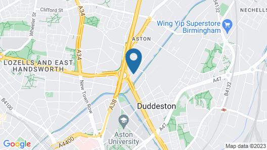 Hotel Campanile Birmingham Map
