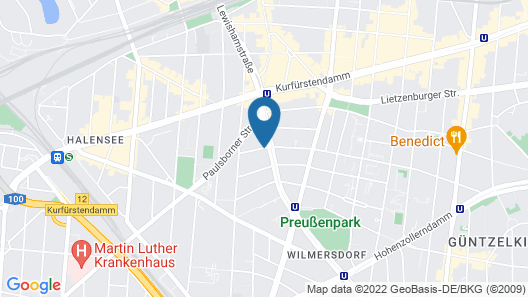 Novum Hotel Lichtburg Berlin am Kurfürstendamm Map