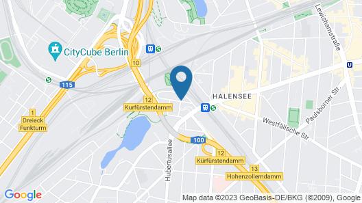Novum Hotel Kronprinz Berlin Map