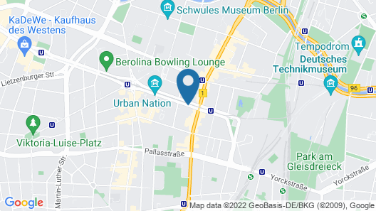 Novum Hotel Aldea Berlin Centrum Map
