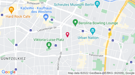 Quentin Design Hotel Berlin Map