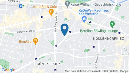Hotel Metropolitan Berlin Map