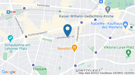 abba Berlin hotel Map