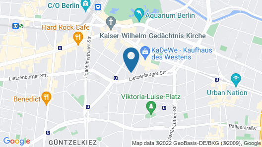 Scandic Berlin Kurfürstendamm Map