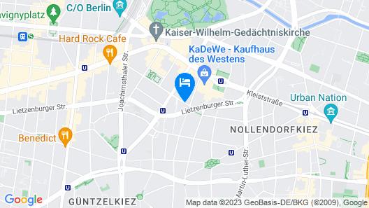 Scandic Berlin Kurfürstendamm Map