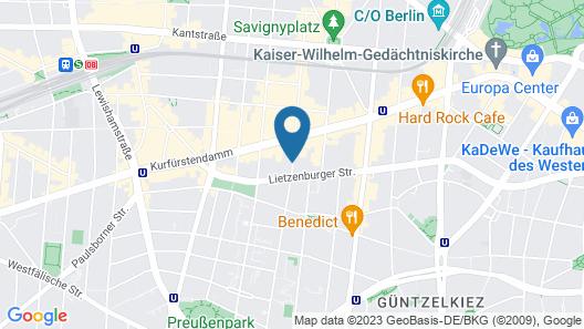 Hotel Bleibtreu Berlin by Golden Tulip Map