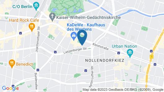 Mercure Hotel Berlin Wittenbergplatz Map