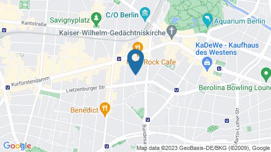 Henri Hotel - Berlin Kurfürstendamm Map