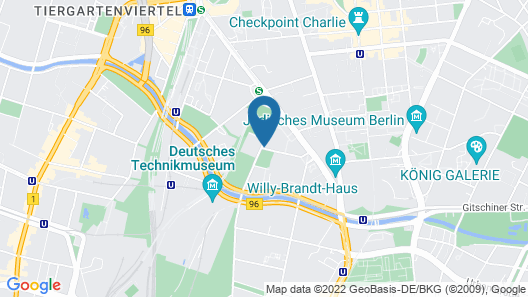 Crowne Plaza Berlin - Potsdamer Platz, an IHG Hotel Map