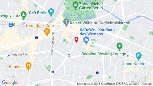 Ellington Hotel Berlin Map