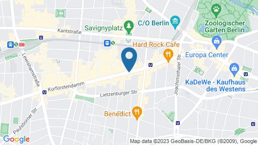 Best Western Plus Plaza Berlin Kurfuerstendamm Map