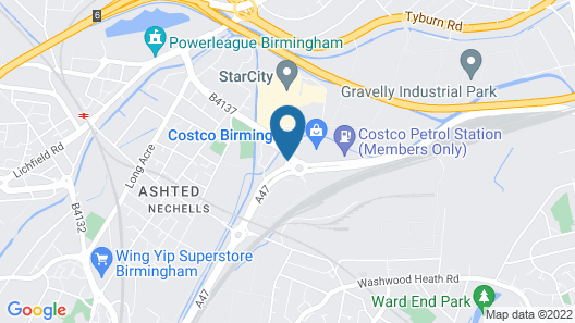 Holiday Inn Express Birmingham Star City Map