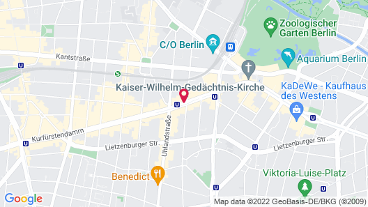 Hotel Bristol Berlin Map