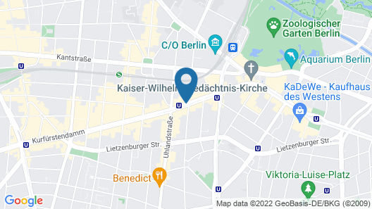 Hotel Bristol Berlin Map
