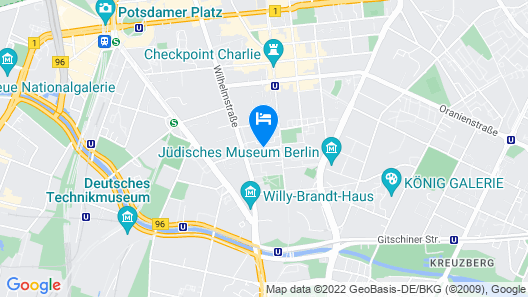 Select Hotel Berlin Checkpoint Charlie Map