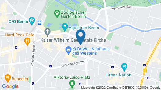 Sorat Hotel Ambassador Berlin Map
