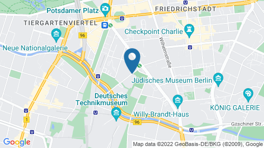 Movenpick Hotel Berlin Map