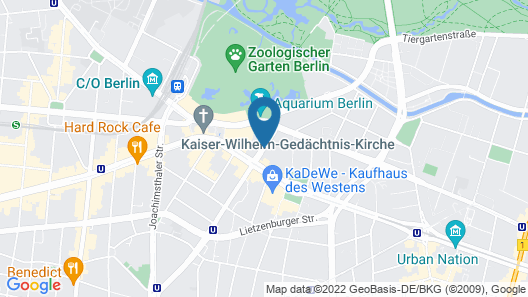 Crowne Plaza Berlin City Centre Map